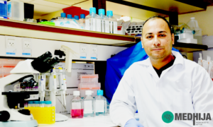 Dr. Abuelhija is a scientist in reproductive biology