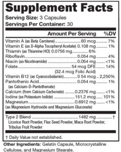 Prolistem stage two supplement facts