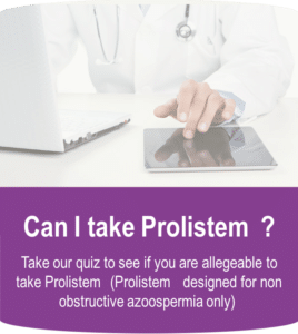 can I take prolistem for non obstructive azoopsermia